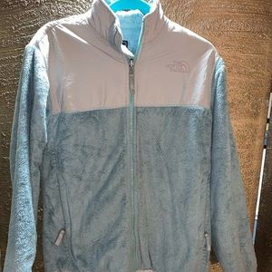 Fleecy Light Blue North Face Zip up